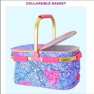 NIB Lilly Pulitzer Collapsible Basket Cooler!